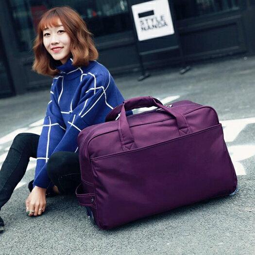 拉桿包 新品手提行李大容量折疊旅行袋防水登機密碼男女拉桿箱包 快速出貨 清涼一夏钜惠