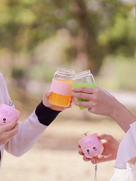 家用水果料理機小型便攜式充電炸果汁機多功能榨汁杯 麗人印象 免運 清涼一夏钜惠