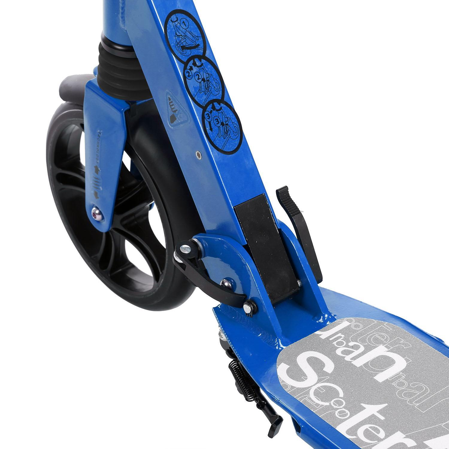 Scooter Sturdy Lightweight Height Adjustable Aluminum Alloy T-Style Foldable Design Adults 3