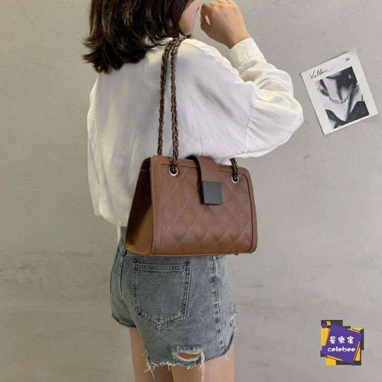 腋下包 高級感包包新款潮小ck單肩斜背包時尚網紅腋下包女菱格鍊條包『斜背包』