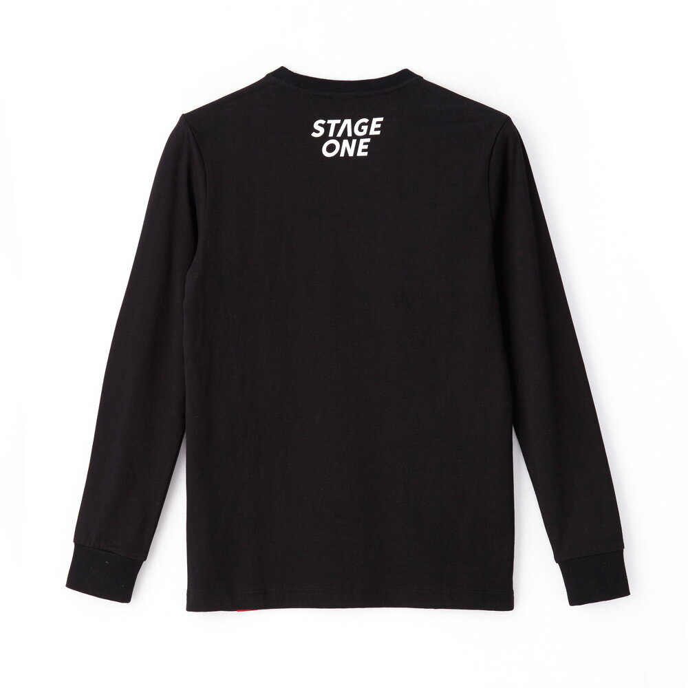 STAGEONE COLLEGE LS TEE 黑色 白色 兩色 3