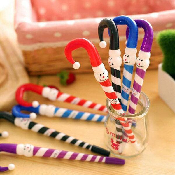 【省錢博士】聖誕禮品雪人雨傘圓珠筆文具學生獎品禮物(2入裝)