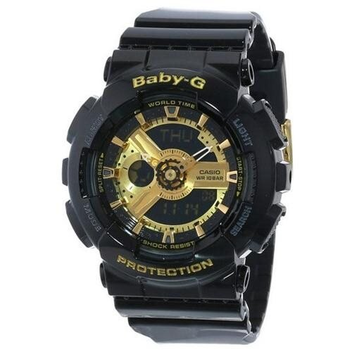 Casio Baby-G Black And Gold Tone Ani-Digi 3D Watch BA110-1A 0