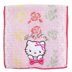 日本 Sanrio 三麗鷗 毛巾小物袋/毛巾布折袋 《 Hello Kitty 凱蒂貓 》★ 收納私密小物/暖暖包/保冷袋 多用途喔 ★ 夢想家 Zakka'fe