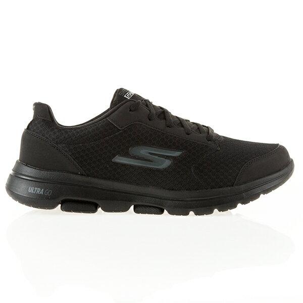Shoestw【55509BBK】SKECHERS 健走鞋 Go Walk 5 避震緩衝 透氣網布 全黑 男生尺寸 0
