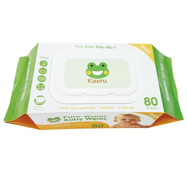 Kaeru哈皮蛙 - 嬰兒柔濕巾(濕紙巾) 80抽