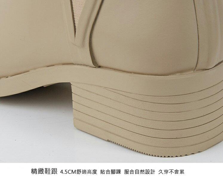 LINAGI里奈子【S692189】韓國代購短筒橡膠雨鞋女成人啞光歐美防滑切爾西雨靴 6
