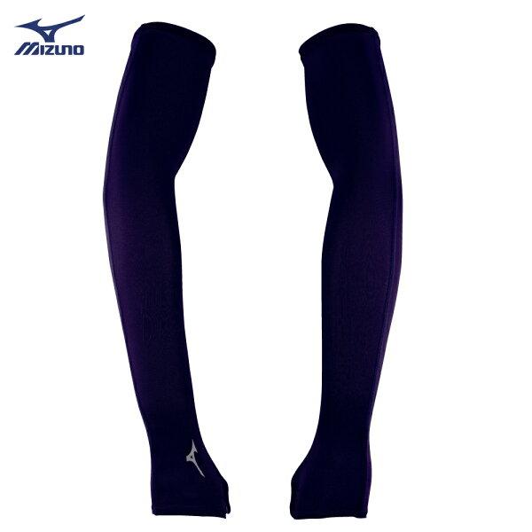 32TY8G0209(黑)抗紫外線、防曬必備彈性半掌式袖套【美津濃MIZUNO】