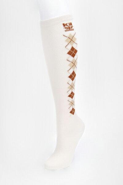 【金‧安德森】女版學院菱格長統襪