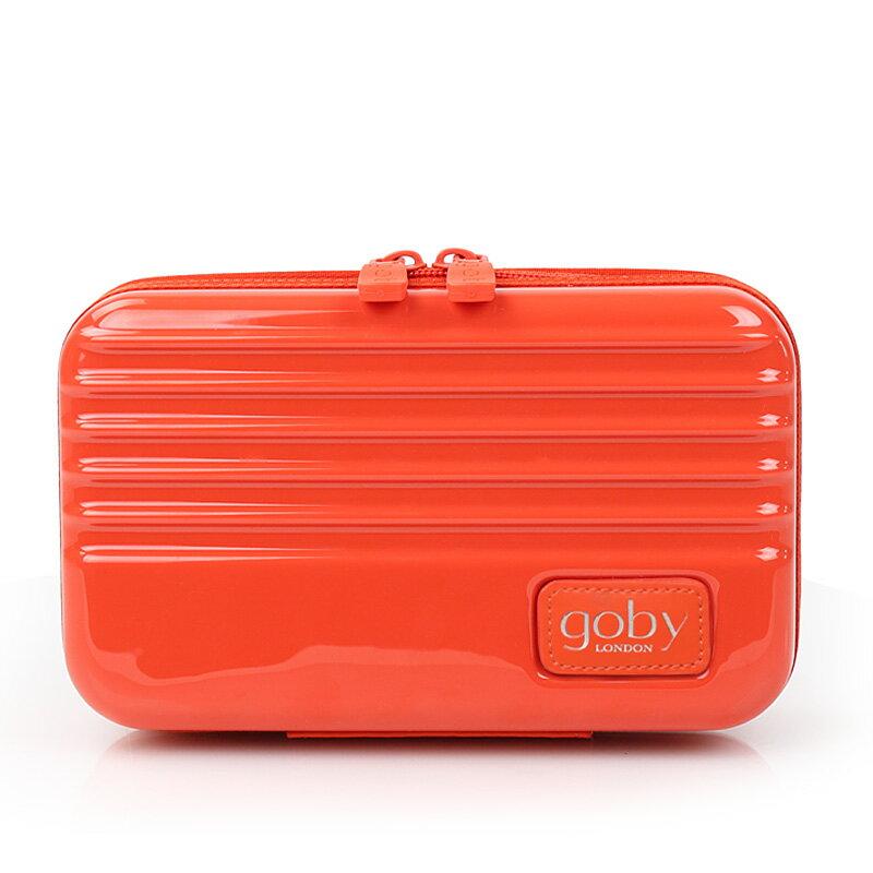 【買一送一 折後$394/個】GOBY果比 Love系列-迷你行李箱旅遊硬殼化妝包-橘-L867 [禾雅時尚]
