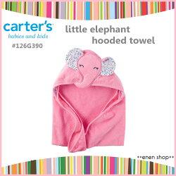 Enen Shöp @Carter's 小碎花大象款浴巾/包巾 #126G390 新生兒/彌月禮