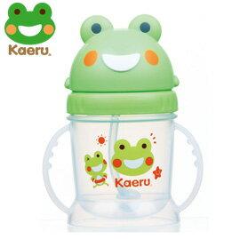 哈皮蛙 Kaeru 自動吸管滑蓋造型練習杯250ml【悅兒園婦幼生活館】