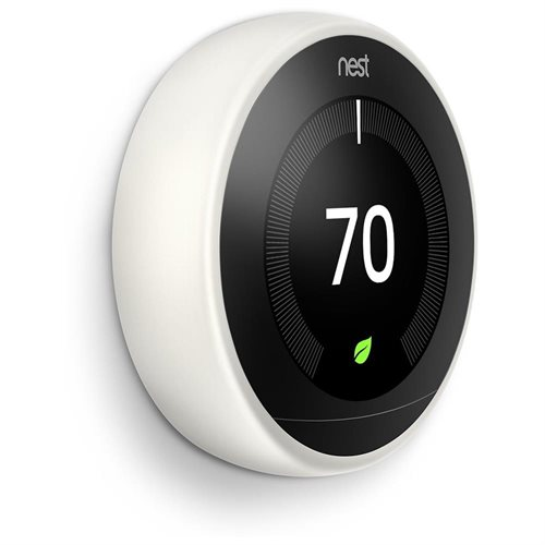 Nest 3rd Generation Programmable Wi-Fi Smart Learning Thermostat T3017US - White 1