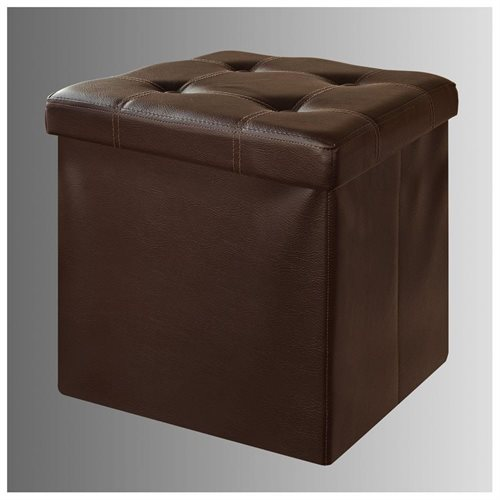 Haotian Faux Leather Storage Ottoman,Folding Storage Bench With Seat  Cushion,FSS16 K