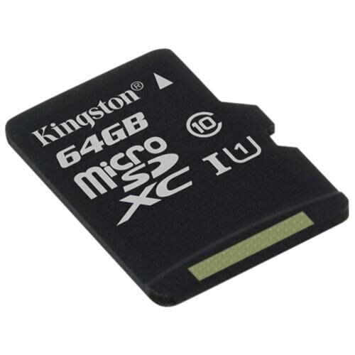 Kingston 64 GB microSDXC - Class 10/UHS-I (U1) - 45 MB/s Read - 10 MB/s Write1 Pack