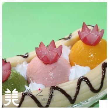 仿真冰淇淋香蕉船模型展示