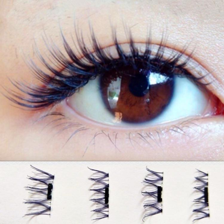 帶磁鐵假睫毛吸鐵石免膠水重復使用3d自然仿真磁力眼睫毛005