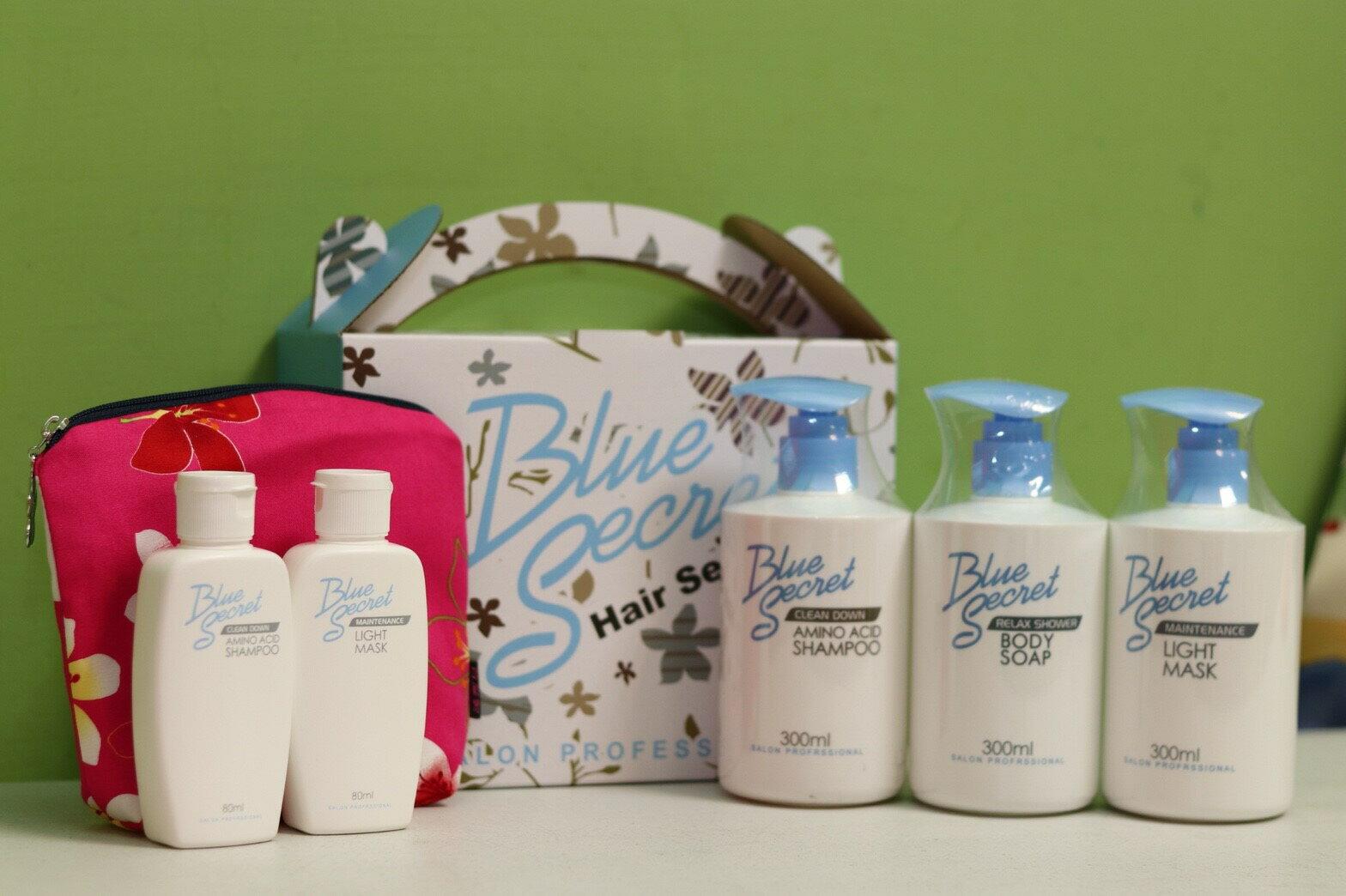 《禮盒五盒下標區》★促銷優惠組 專業沙龍級美髮品 青密藍塔羅Blue Secret