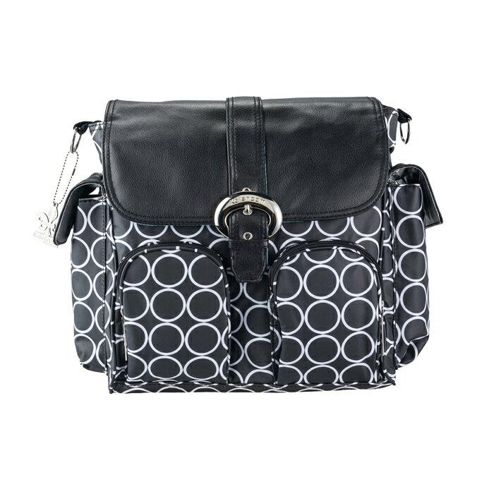 Kalencom - 時尚媽媽包 雙背系列 黑白圈 - 限時優惠好康折扣