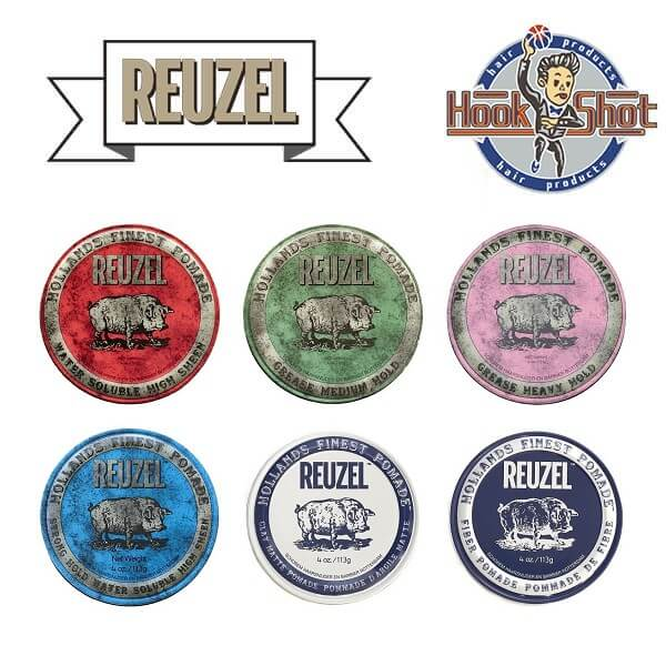HOOK SHOT》Reuzel 小豬 隨身罐 1.3 oz /35g 六款選一 豬油原廠授權經銷