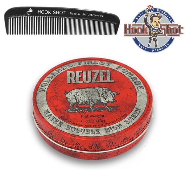 HOOK SHOT》Reuzel 紅豬 一般款 水洗式髮油 豬油原廠授權經銷