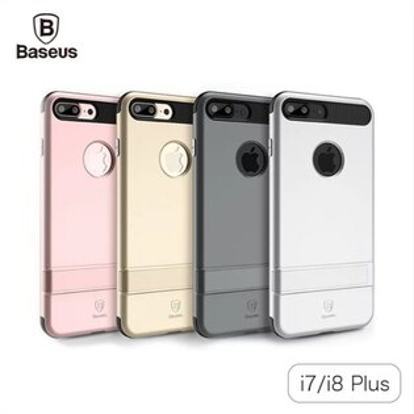 【Baseus】倍思iPhone7iPhone7Plus雙仕支架殼手機殼保護殼手機套保護套殼【迪特軍】