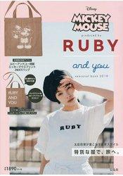 RUBY AND YOU×迪士尼米奇聯名托特包特刊附托特肩背兩用包