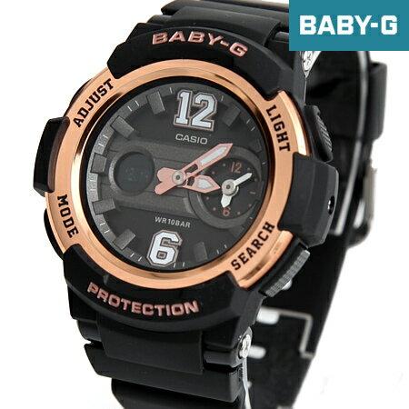Baby-G 黑金運動雙顯手錶 柒彩年代【NECB10】casio BGA-210-1BDR