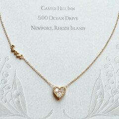 精緻愛心水鑽項鍊[NS] CZ Diamond in Heart Charm & Love Delicate Chain Necklace