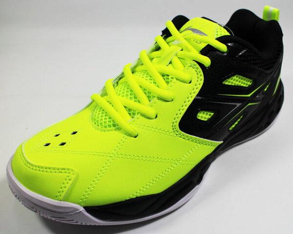 陽光運動館:[陽光樂活]李寧LI-NING羽球專業鞋男LNAYTL059-2螢光綠黑