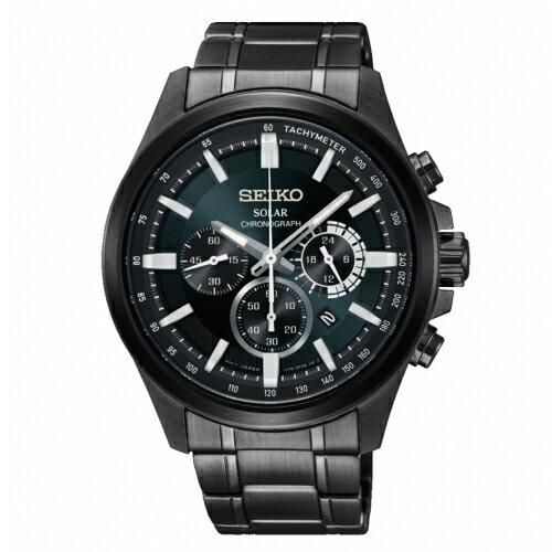 SEIKOCriteria時時刻刻三眼太陽能時尚腕錶V175-0ER0MSSC691P1