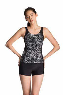 【登瑞體育】SPEEDO 女款運動兩截式平口泳裝 SD811369B351