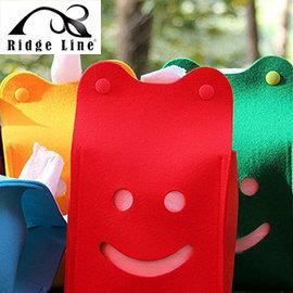 【【蘋果戶外】】Ridge Line OT867277YE 韓國 彩色微笑面紙盒 紅色 放置便利/可做吊飾物