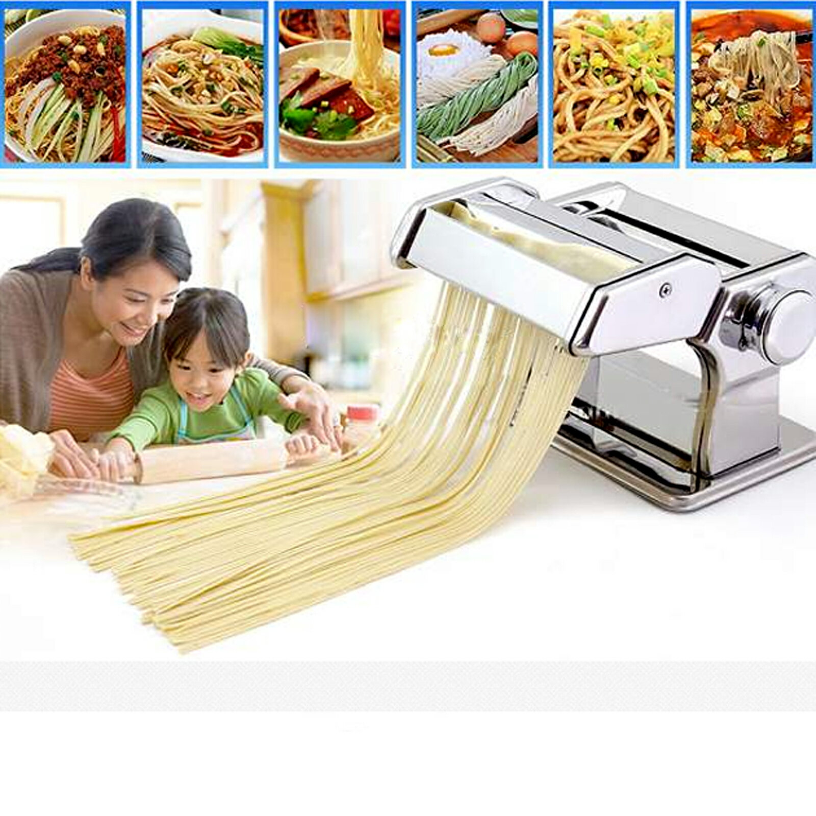 Removable Pasta Make Roller Machine Dough Fresh Noodle Making 2