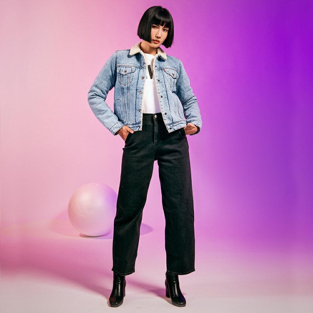 Levis 女款 Balloon 高腰合身氣球版丹寧牛仔寬褲  /  LEJ energy 3D褲  /  Orta歐洲丹寧  /  及踝款 5