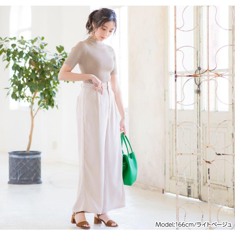 日本Kobe lettuce / 休閒素色寬版高腰長褲 / 日本必買 日本樂天代購 / mobacaba-m2423 (2305)。件件免運 4