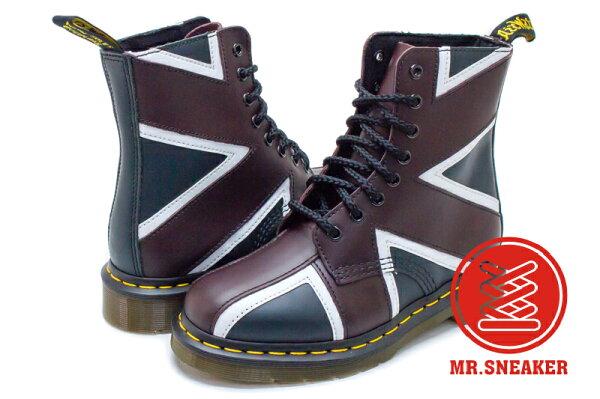 ☆Mr.Sneaker☆Dr.MartensPascalBrit八孔英國國旗酒紅深藍