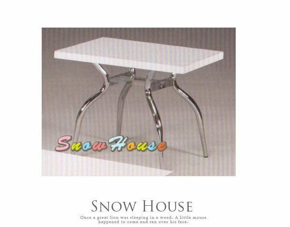 ╭☆雪之屋居家生活館☆╯A385-02 電鍍腳歐風小茶几/餐桌/茶桌/咖啡桌/置物桌**白色面