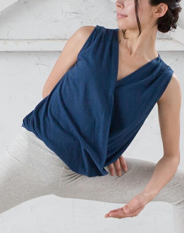 【Kyoto】100%有機棉胸前交叉背心 日本製 瑜珈服 7
