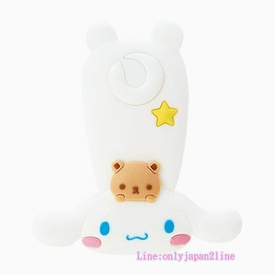【真愛日本】17040600068 造型矽膠扣式集線夾-CN+AAI 三麗鷗家 喜拿狗 大耳狗 耳機集線器 收線器