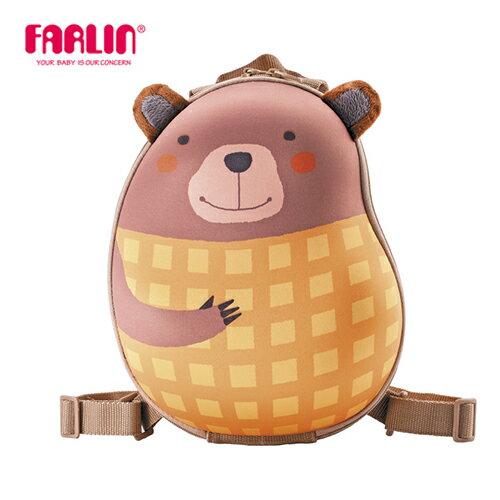 【Farlin】Sina&Mina 小童硬殼後背包 - 鬆餅熊(媽咪用品 親子 外出用品)