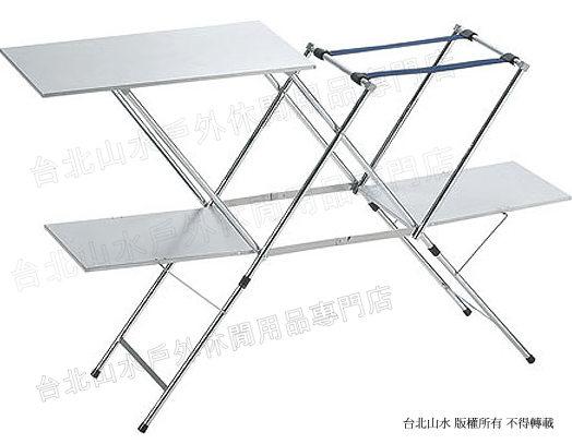 UNIFLAME 不鏽鋼料理桌/折疊爐台/露營桌 日本製 U611784