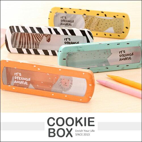開窗 透明 鉛筆盒 文具 收納 鐵盒 透視 兼顧 耐用 *餅乾盒子*
