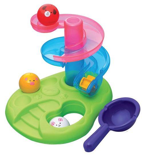 ★衛立兒生活館★Toyroyal 樂雅 洗澡玩具-戲水動物滑球塔-TF7252