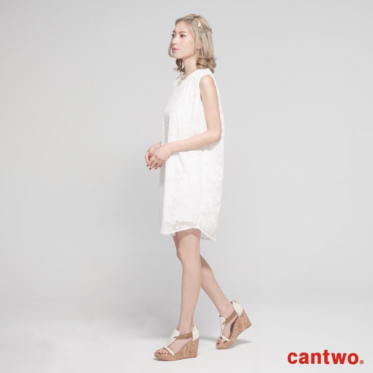 cantwo氣質剪花雪紡洋裝(共二色) 2