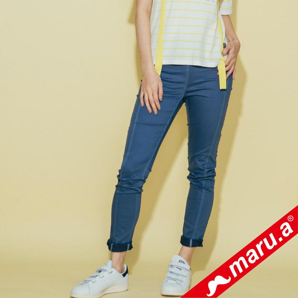 【maru.a】彈性貼腿後印花內搭褲(3色)8325311 0