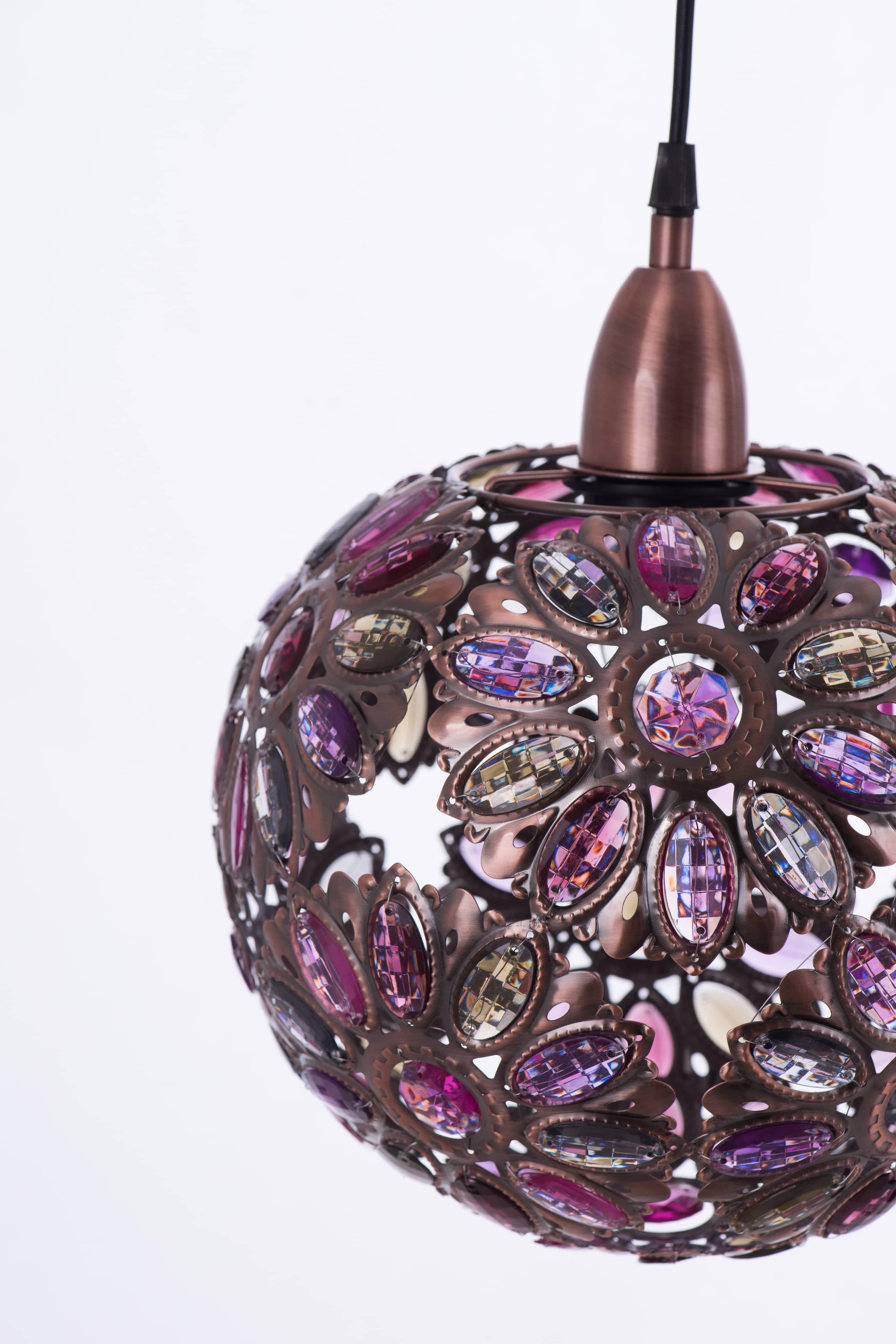 紅銅波斯蘭菊吊燈-BNL00087 1
