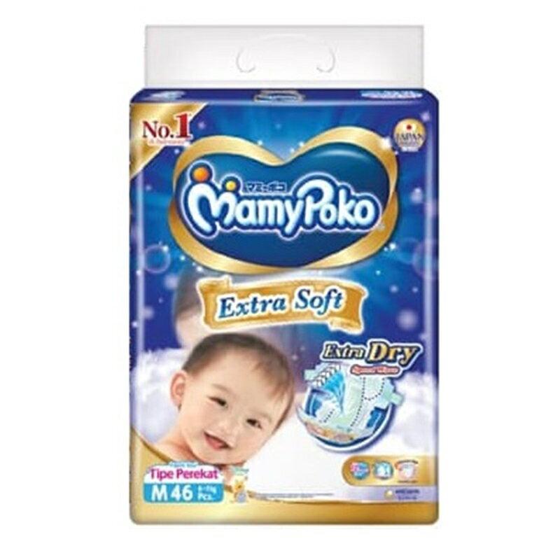 滿意寶寶【Mamy Poko】瞬潔乾爽 尿布 M46片*4包