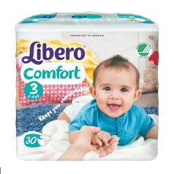 麗貝樂 Libero 嬰兒紙尿褲M 3號-30片x6包(尿布)★衛立兒生活館★