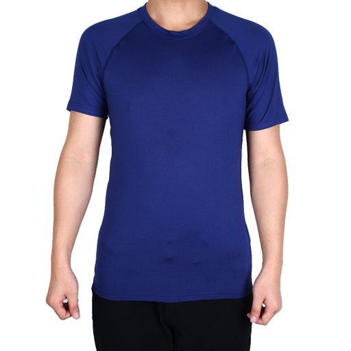 Men Polyester Short Sleeve Tee Clothes Basketball Sports T-shirt Navy Blue S 6719b362f57b8f2b1cfb58e6a5e994a3